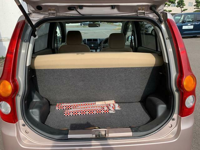 大きい荷物も積み込み可能なスペース。