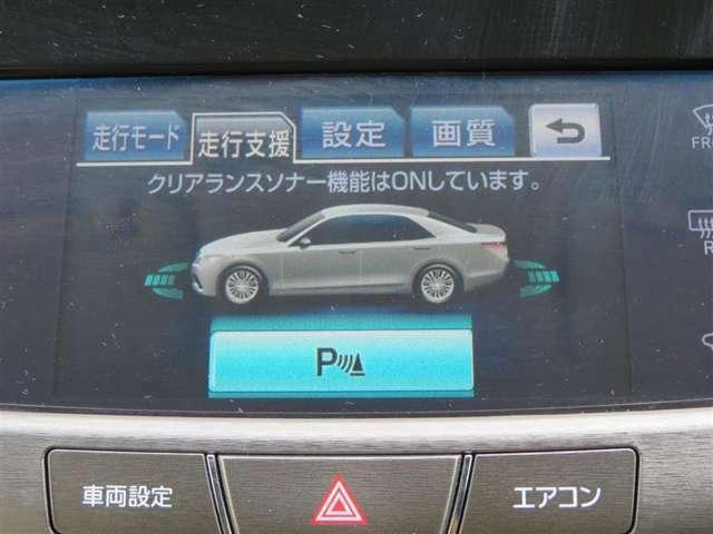 「クリアランスソナー」付きです。車両と静止物との距離を検知して、画像や音でお知らせします。