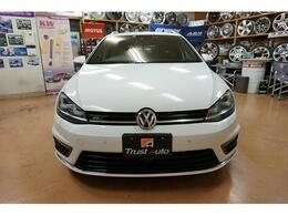 ☆ 2014年 VW ゴルフヴァリアント Rラインブルーモーションテクノロジー ピュアホワイト 走行50168km H&Rダウンサス・19AW ☆