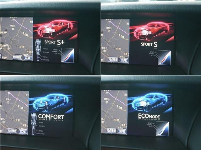 多彩なドライブフィールを選択出来るドライブモードセレクト・ダイレクト感溢れるスポーツ+・適度にスポーティーなスポーツ・ゆったりとした乗り心地重視のコンフォート・燃費重視のエコ