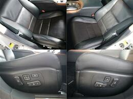 使用頻度の多いフロント左右シートも御覧のようにキレイです。運転席メモリ付10WAYパワーシート・助手席8WAYパワーシート・ベンチレーション&ヒーターで1年通して快適シート!!