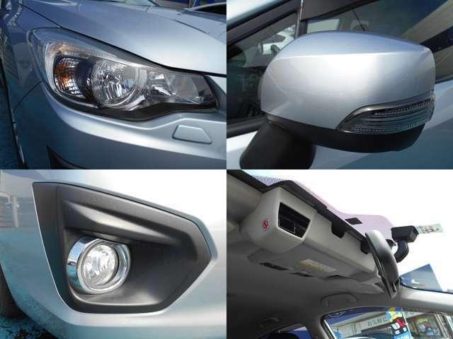 夜間明るく快適な『HIDヘッドライト』&『フォグランプ』!!人気の『ウインカードアミラー』!!運転支援システム『アイサイト』も装備しているので安全面もバッチリの一台です!!!