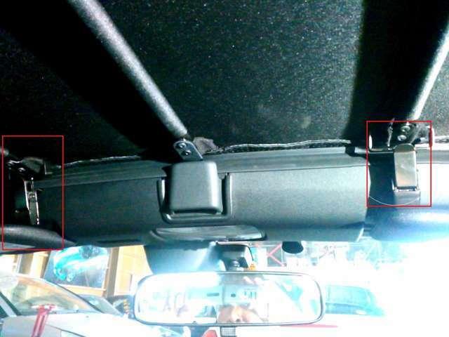 高速での幌のバタつき防止装置
