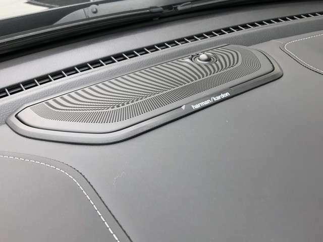 オプションのharman/kardon 19スピーカープレミアムサウンドシステム。ヨーロッパハイエンドカーに装着される世界的有名オーディオブランドです。