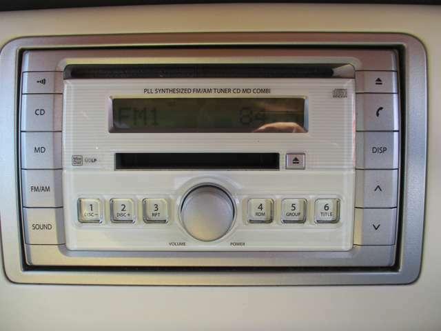 CD/MDプレーヤー付き!◆今はナビも標準装備の時代?ナビ・オーディオの取付やグレードアップなど、また今お使いのオーディオの移設も可能です!持込も大歓迎!ご相談ください!