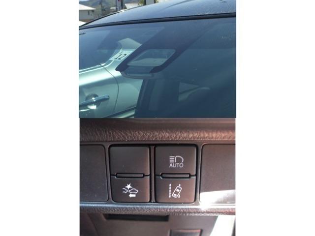 衝突被害軽減ブレーキ搭載車!進路上の車両を前方のセンサーで検出し、衝突の可能性が高いときに警報やブレーキ力制御によりドライバーの衝突回避操作を補助します!