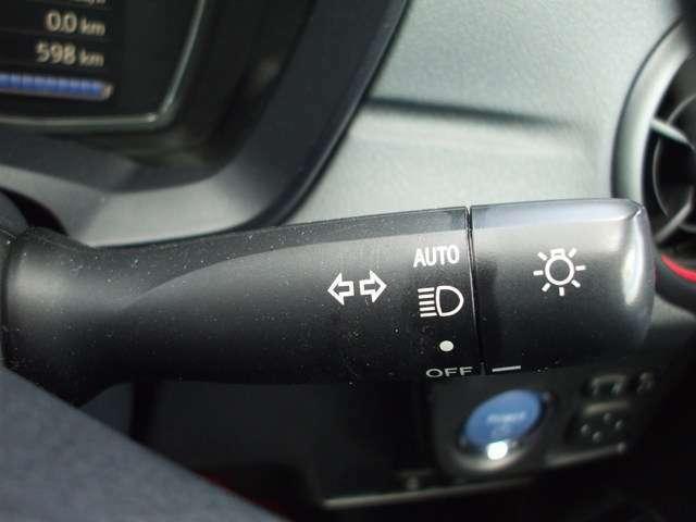 オートライト機能付き!暗くなると自動でライトが点灯します!