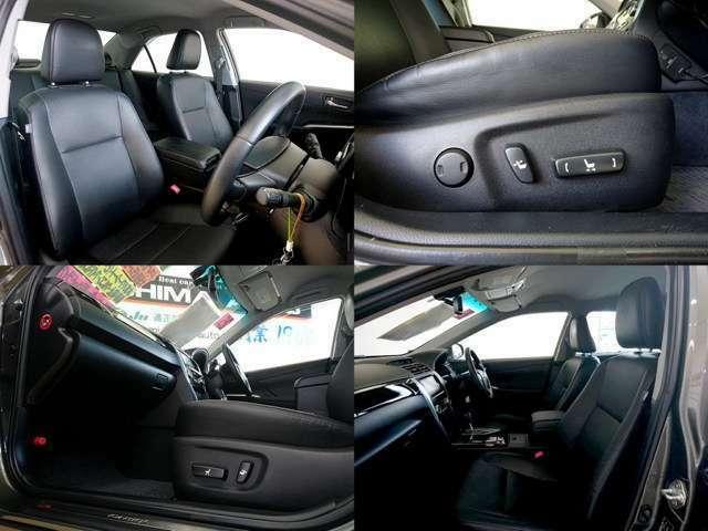 運転席、助手席パワーシートも高級セダンの装備です 更にシートヒータも完備、乗る人をちょっぴりリッチな気分にさせる贅沢な装備ですね