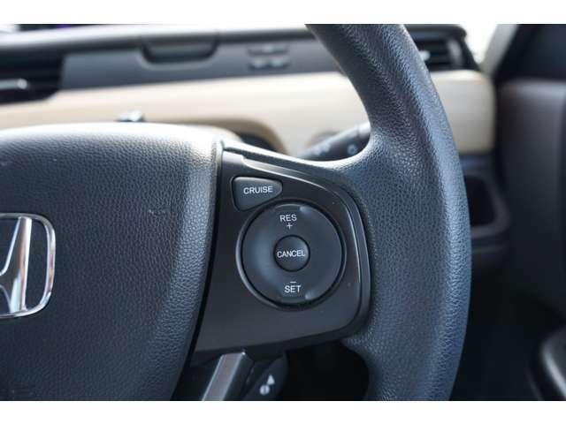 クルーズコントロールを装備してます。高速道路などで一定の速度で走ってくれるので運転が楽ですよ!