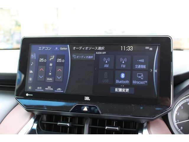 高精細12.3インチのワイドディスプレイナビ☆彡SDナビゲーション機能、オーディオ・ビジュアル機能に加えスマホ連携機能、ETC2.0ユニットを搭載しております!!