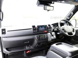新車未登録 ハイエースV DARKPRIMEII 2.8DT 4WD! メーカーオプションとして新たに加わったデジタルインナーミラー・PVM・インテリジェントクリアランスソナーを装着しています!