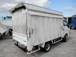 H24 マツダ ボンゴ 平ボディ カーテン車 移動販売車 積載1000kg 走行103000km ボディ内寸長さ2710 幅1520 高さ1510