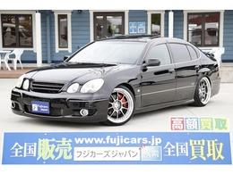 トヨタ アリスト 3.0 V300 10thアニバーサリーエディション 黒革 SR フルエアロ 車高調 前置IC