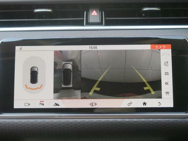 ボディの目立たない位置に設置された4台のデジタルカメラにより、車の周囲360度のオーバーヘッドビュー表示。狭い場所や出入口なども安心できます!駐車アシスト搭載で、不安な駐車もサポートします!