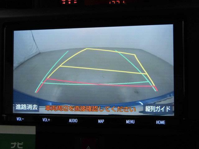【バックモニター】シフトをバックに入れて頂くと、バックカメラの映像がナビ画面に映し出されます。後方に障害物などがあってもしっかりと確認出来ますので、バック駐車が不安な方でも安心ですよ。