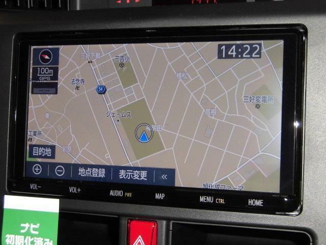 【メモリーナビ&フルセグTV】簡単な操作で目的地を検索でき、画像が鮮明で地図も詳細に出てきます。ブルートゥース機能も付いていますので、スマートフォンとマッチングさせれば通話や音楽を聴く事もできます。