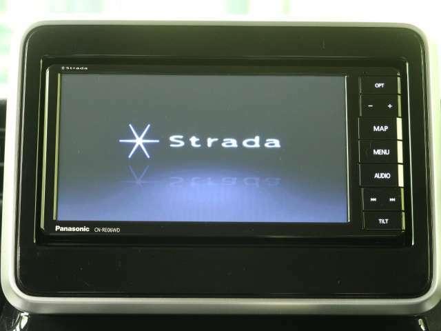 社外SDナビ付!フルセグTVやDVDも見れます。Bluetooth接続可能☆