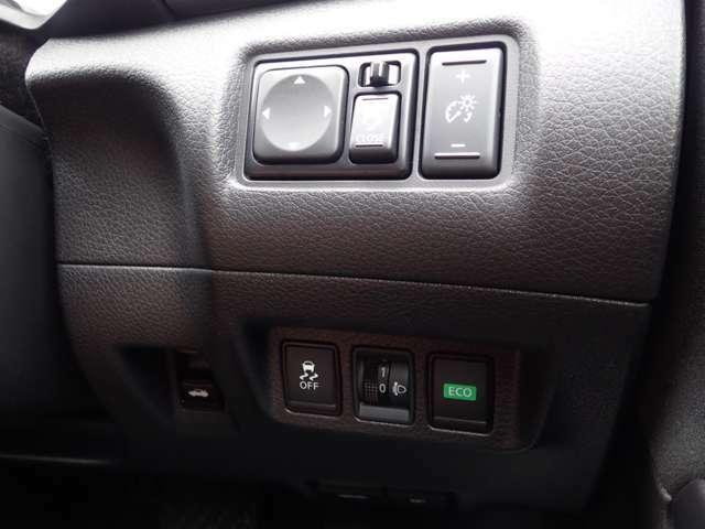 ハンドル右側部分になります。 ◇横滑り防止装置 ◇エコモード