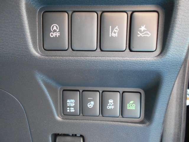 三菱e-アシスト アイドリングストップ ステアリングヒーター VSC 車線逸脱警報 ECOモードスイッチ