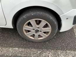 タイヤは4分山ぐらい残っています。