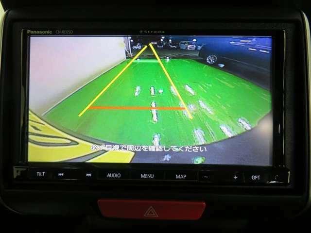バックモニターが付いているから、後方確認もラクラク♪ 安全に車庫入れが可能です。便利な機能ですが、直接目視確認することもお忘れなく!