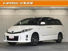 トヨタ エスティマハイブリッド 2.4 アエラス レザーパッケージ 4WD 地デジHDDナビ ETC HV保証