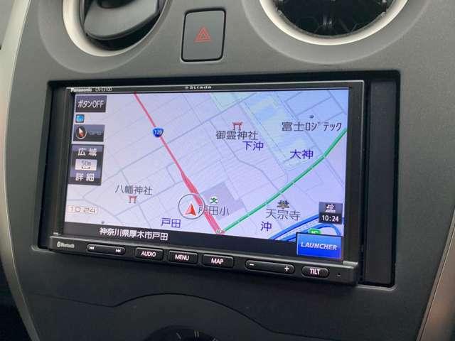 当社にてナビを取付致しました!TV・Bluetoothなどに対応しています。初めての道でも安心してドライブできます。