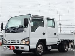 いすゞ エルフ 4.8 ダブルキャブ 低床 ディーゼル 積載2トン・全塗装済み・6人乗り