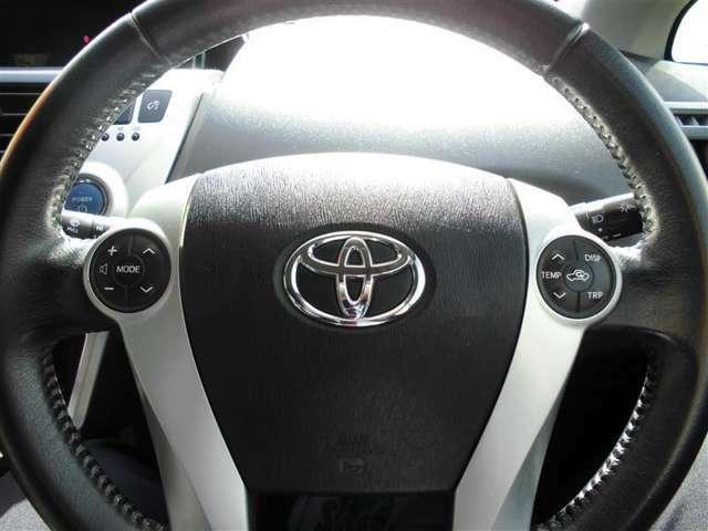 運転中とても便利なステアリングスイッチ。