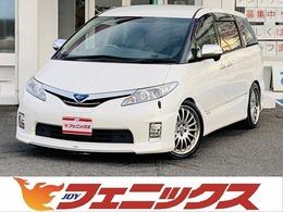 トヨタ エスティマハイブリッド 2.4 G 4WD フルセグツインナビ両電動モデリスタリップ