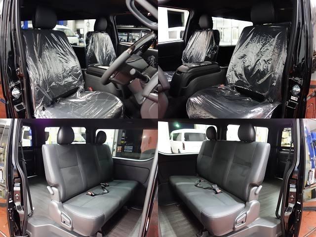 標準で専用のトリコット&ハーフレザーのダブルステッチシートが装着されるのもダークプライムIIの魅力の一つです!