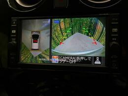 ◆【全方位カメラ】上から見下ろしたような視点で車の周囲を確認することができます☆縦列駐車や幅寄せ等でも活躍すること間違いなし!!