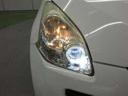 ヘッドライトは明るい方が良いですよね。ハロゲンヘッドライトに比べ約2倍の明るさです。