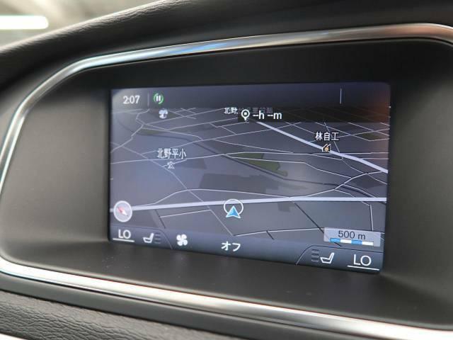 ●ボルボ純正ナビ:高級感のある車内を演出させるナビです!