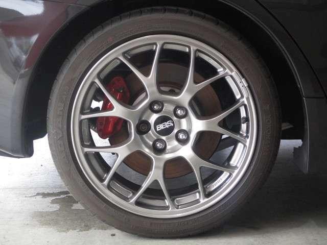 245/40R18 BBS製純正(モデル標準)18インチアルミホイール YOKOHAMAタイヤ ADVAN A13 タイヤ4本とも残り4分山程度