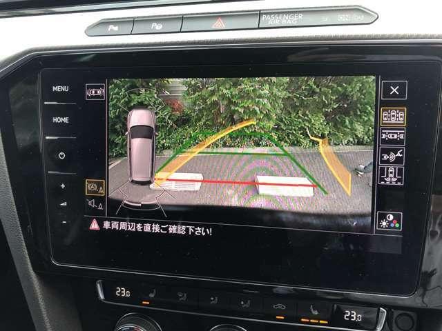 バックカメラは暗視型ですので、夜間の車庫入れも安心です。更に、四方センサー付きですので、音と目で判断出来、より安心なバック操作が可能です。