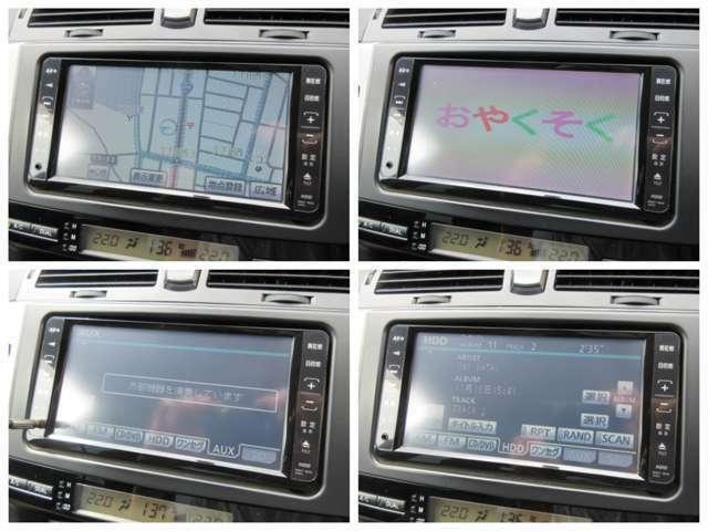 純正HDDナビが装備されております♪画面もクリアで運転中も確認しやすいです♪DVDの視聴もお楽しみ頂けます♪AUX&ミュージックサーバーも搭載されておりますのでお好きな音楽を聴きながらドライブしてください♪