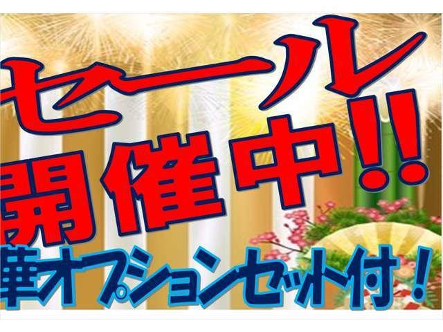 ☆新春☆初売りセール☆今年もやります!豪華オプションセット付き!このお得な機会をお見逃しなく!