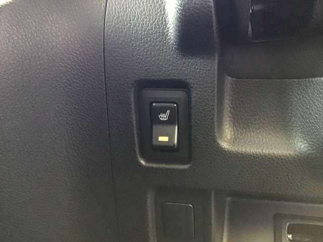 運転席しーとシートヒーターのスイッチ