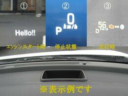ドライバーの視線上のフロントガラスに車速などを表示するヘッドアップディスプレイを採用だから、安全運転に貢献!