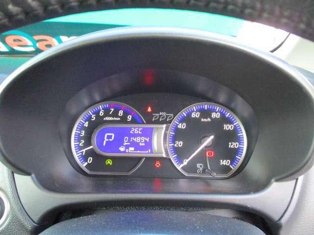 スピードメーターも見やすいです!