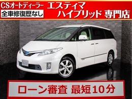 トヨタ エスティマハイブリッド 2.4 X 4WD リアモニター/純正SDナビ/バックカメラ