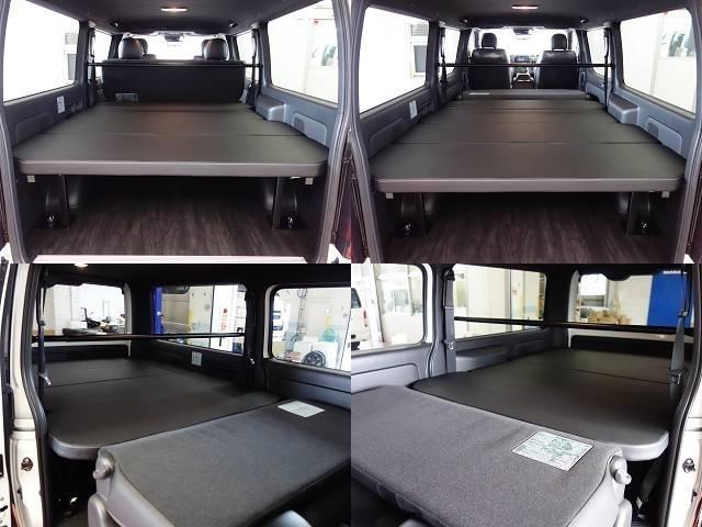 新車ダークプライムII2000ガソリン2WDファミリーに好評の床張りベットKITナビパッケージ完成致しました!!渋いガンメタのコンプリート車になります!!