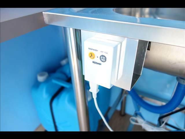 電動給水ポンプ付きです。