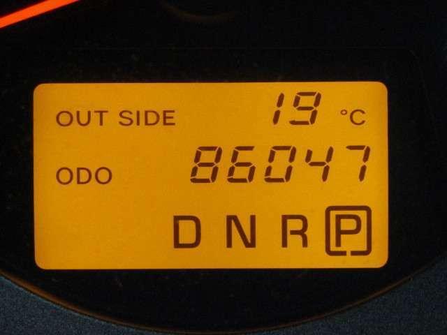 走行距離はおよそ86,000kmです。