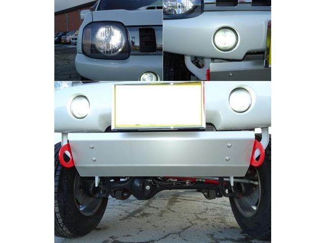 LEDヘッドライト・フォグランプLEDテールアンプ/TANIGUCHIフロントバンパー・リアバンパー/スキッドプレートけん引フック付き