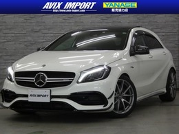AMG Aクラス A45 4マチック 4WD 後期 1オ-ナ- パノラマSR 禁煙 黒革 RSP TV