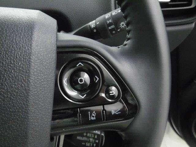 ハンドル右側のスイッチで、インフォメーションディスプレイの表示内容を切り替えることができます。