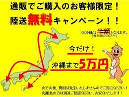 【陸送費用¥0円(タダ)キャンペーン】実施中! ※沖縄、離島を除きます(ご相談ください。特別価格で承ります)/※他のキャンペーンとの併用は出来兼ねますのでご了承ください