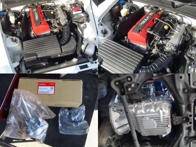 オーバーホール済みエンジンが搭載されたエンジンルームです☆パワステトルクセンサーも新品交換済み!